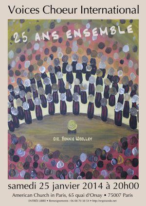 Affiche Concert 25 Ans