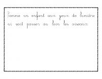 Livre illustré cursive